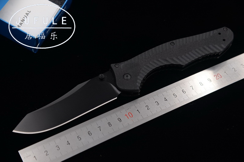 JUFULE New BM810 M4 Steel blade G10 handle folding Copper washer hunting camping Pocket outdoor Survival EDC Tool kitchen knife