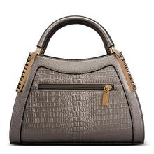 Fashion Women Alligator Leather Handbags Crocodile Head Crossbody Ladies Party Handbag Shell Shoulder Tote  Messenger Bags
