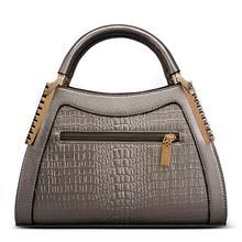 Fashion Women Alligator Leather Handbags Crocodile Head Crossbody Ladies Party Handbag Shell Shoulder Tote  Messenger Bags цена в Москве и Питере