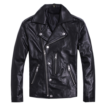 Free shipping.Brand new soft sheepskin motor coat.mens genuine leather jacket.slim biker's clothes.plus size quality jackets - discount item  10% OFF Coats & Jackets