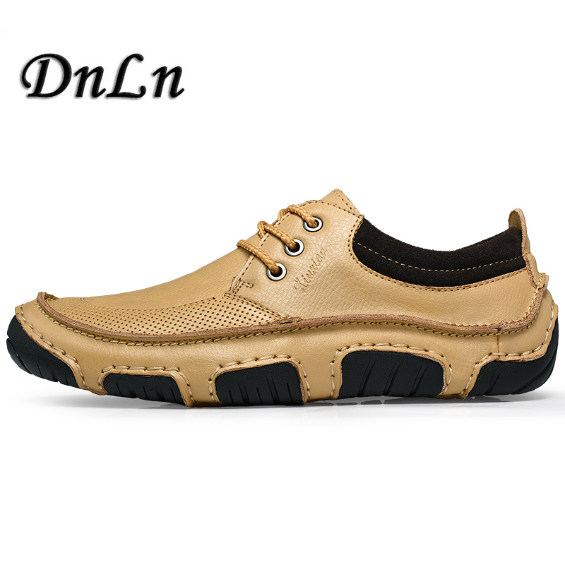 2018 New Men Casual Loafers Driving Moccasins Lace Up Flats Shoe Men Solid Leather Shoes Male Dress Zapatos D30 mycolen men leather casual shoes loafers fashion men shoes moccasins chaussures flats male breathable driving shoes sapatos