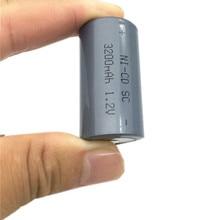 18PCS/LOT Sub C SC 1.2V 3200mAh Ni-Cd Ni Cd Rechargeable Battery Batteries  Free shipping