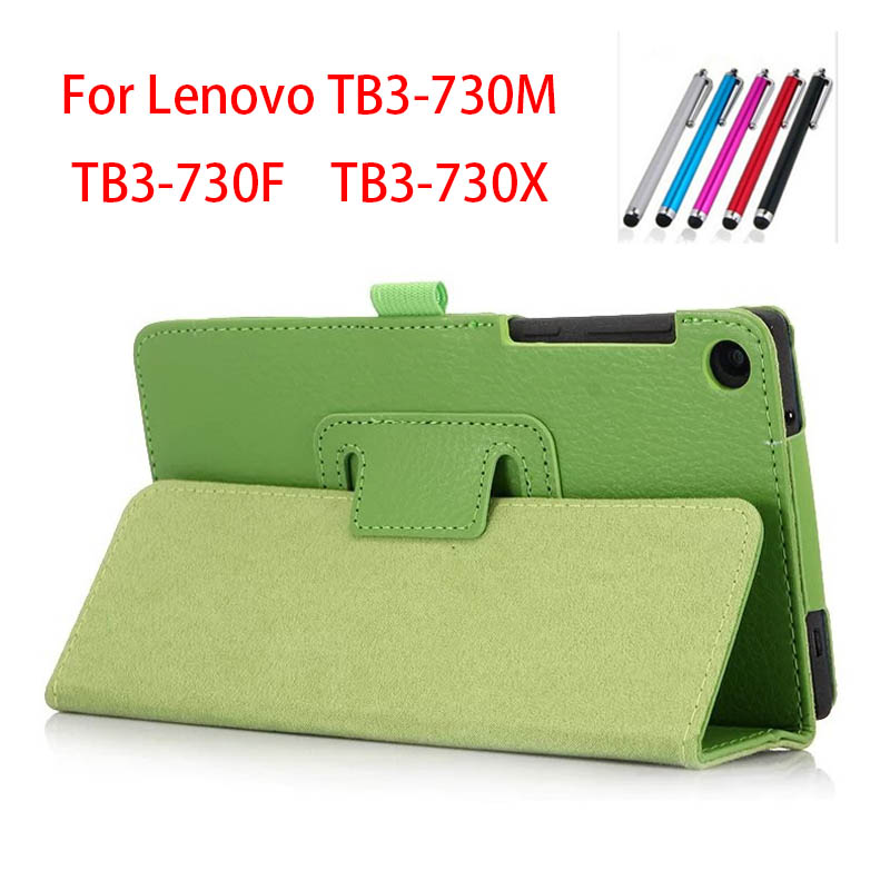 Magnet stand Luxury Pu leather case cover For Lenovo Tab 3 730F 730M 730X 7 inch tablet funda cases for Lenovo TB3-730F TB3-730M anti knock cover for lenovo tab3 7 inch case armor kickstand silicone cover for lenovo tab3 7 tb3 730x tb3 730f m tablet shell