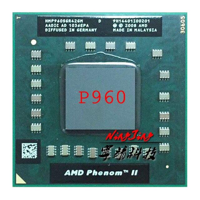 معالج Phenom II رباعية النواة موبايل P960 1.8 GHz رباعية النواة رباعية موضوع معالج وحدة المعالجة المركزية HMP960SGR42GM المقبس S1