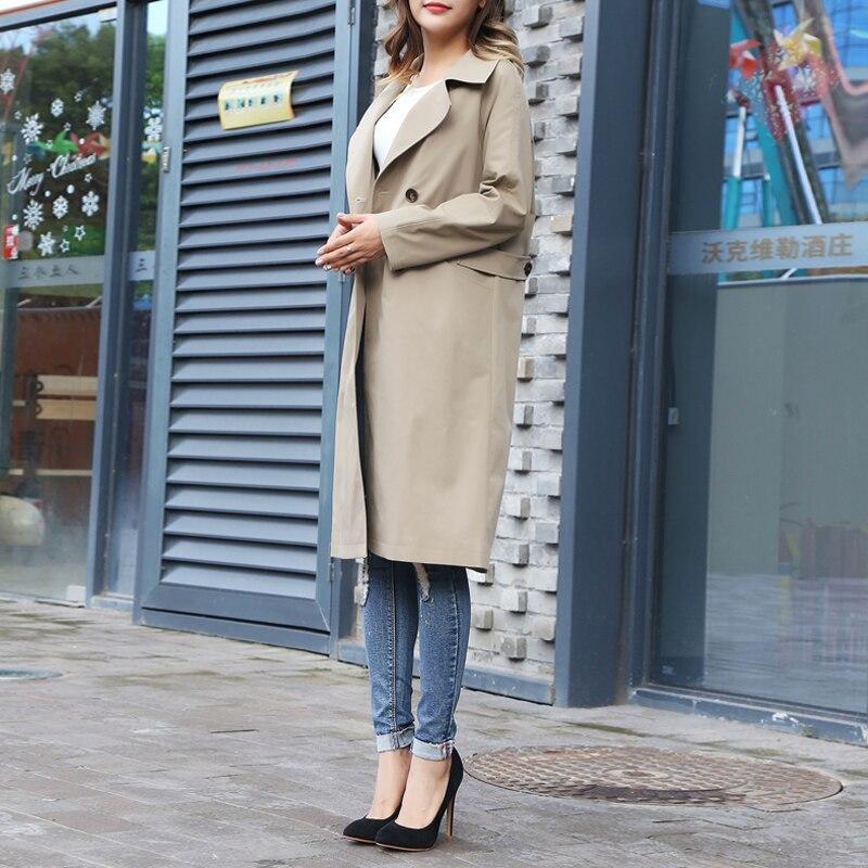 Élégant Automne 2018 Tranchée Femmes New Khaki vent Occasionnel 6xl British Taille Coupe Grande Style Manteau Tempérament Long Slim 4PBPrq1Hd