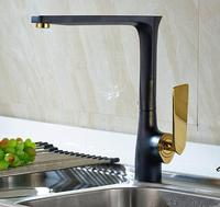 High Quality New Arrival Kitchen Faucet Black Brass Hot And Cold Water Tap Sink Mixer Tap