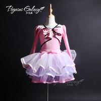 New Stiff Tulles Girl Ballet Tutu Ballerina Dance Adult Dance Costumes Burgundy Velvet Top Tutu Stage Performance Suit B 6311