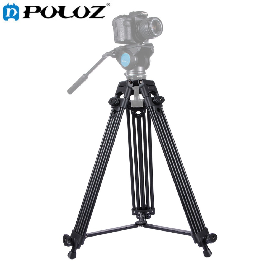 PULUZ Professional Heavy Duty Tripod Video Camera Camcorder Tripod Monopod Aluminum Allo ...