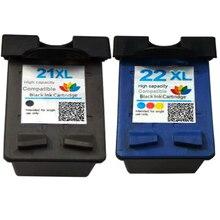 картридж  HP21 черный C9351A + C9352A HP22 цветной струйные картриджи для HP принтеров серий Deskjet 3920 3940 D1360 1460 1470 D2430 D2460