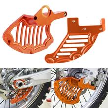 NICECNC Front & Rear Brake Disc Guard Protector For KTM 125 200 250 300 350 450 500 530 SX SXF EXC XC XCW EXCR MXC 2004 2014