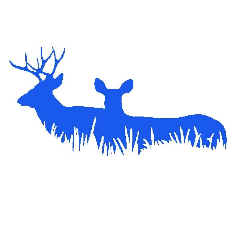 2 X Observation de la faune renne Couple se méfier de l'autocollant de voiture de Danger tapi pour camion SUV porte fenêtre latérale voiture style Jdm