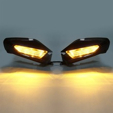 Motorcycle Rearview Mirror With LED Turn Signal For Honda Goldwing GL1800 GL 1800 2018 Accessories motorcycle led front side turn signal blinker case for honda goldwing gl1800 gl 1800 2001 2017 f6b 2013 2018