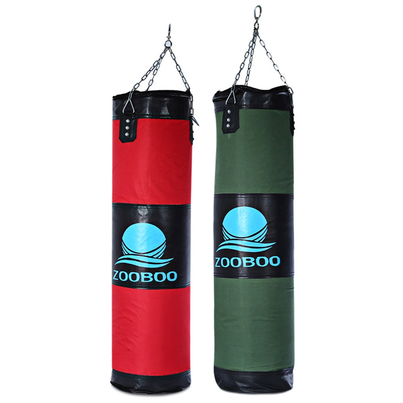 ZOOBOO 100CM Boksen Zandzakken Opvallende Drop Hollow Lege Zand Tas met Ketting Martial Art Training Punch Target