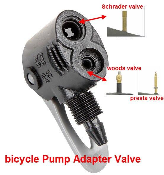 1pc bicycle repair tool kit Pump Valve Adapter Connector for Schrader valve Air pump hose for bike Presta To Schrader Converter