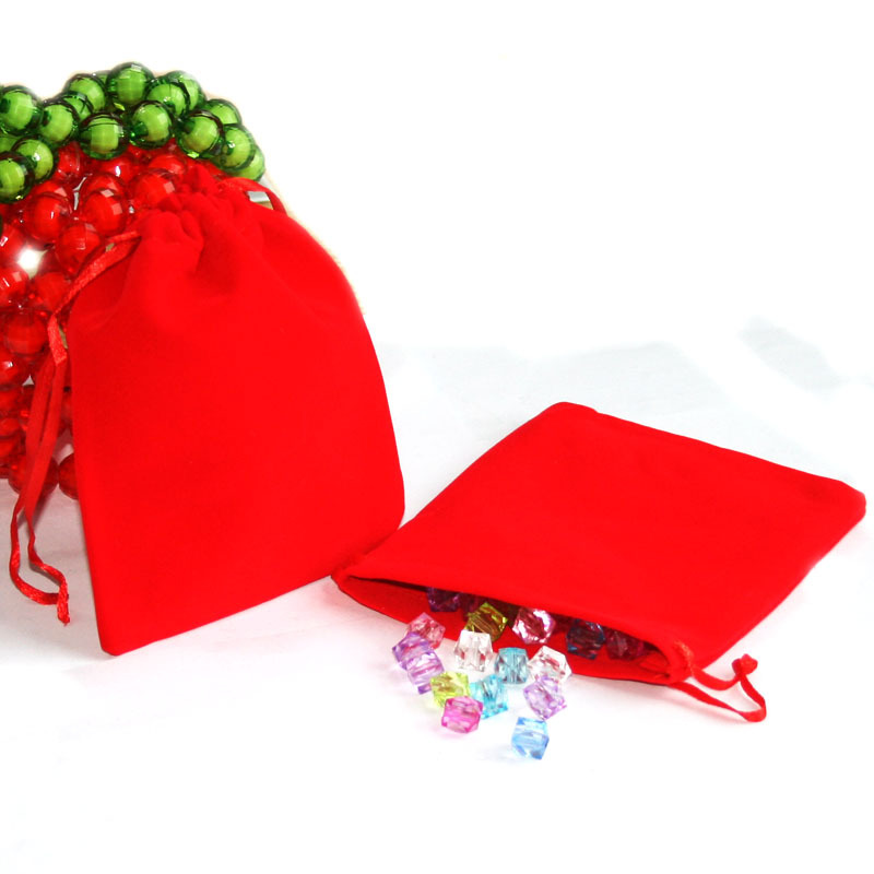 50pcs/<font><b>bag</b></font> 10x12cm Red Jewelry Packaging <font><b>Bags</b></font> Velvet Drawstring Pouches For <font><b>Candy</b></font> Earrings Christmas Wedding Party Gift <font><b>Bags</b></font> image