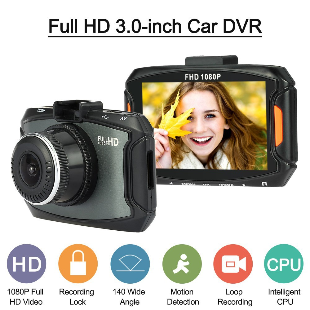 High definition night vision wide angle 1080p Car DVR, anti collision porcelain ultra thin vehicle traveling recorder
