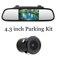 520 Auto Parking 4.3 Inch Car Mirror Monitor with Intelligent Dynamic Trajectory Tracks Rear View Camera Backup Parking Sensors