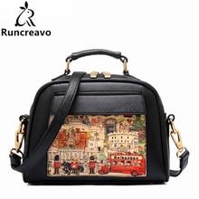 Новая женская сумка с рисунком масляного рисунка, модная женская кожаная сумка из искусственной кожи, повседневная женская сумка на плечо, модная женская сумка высокого качества