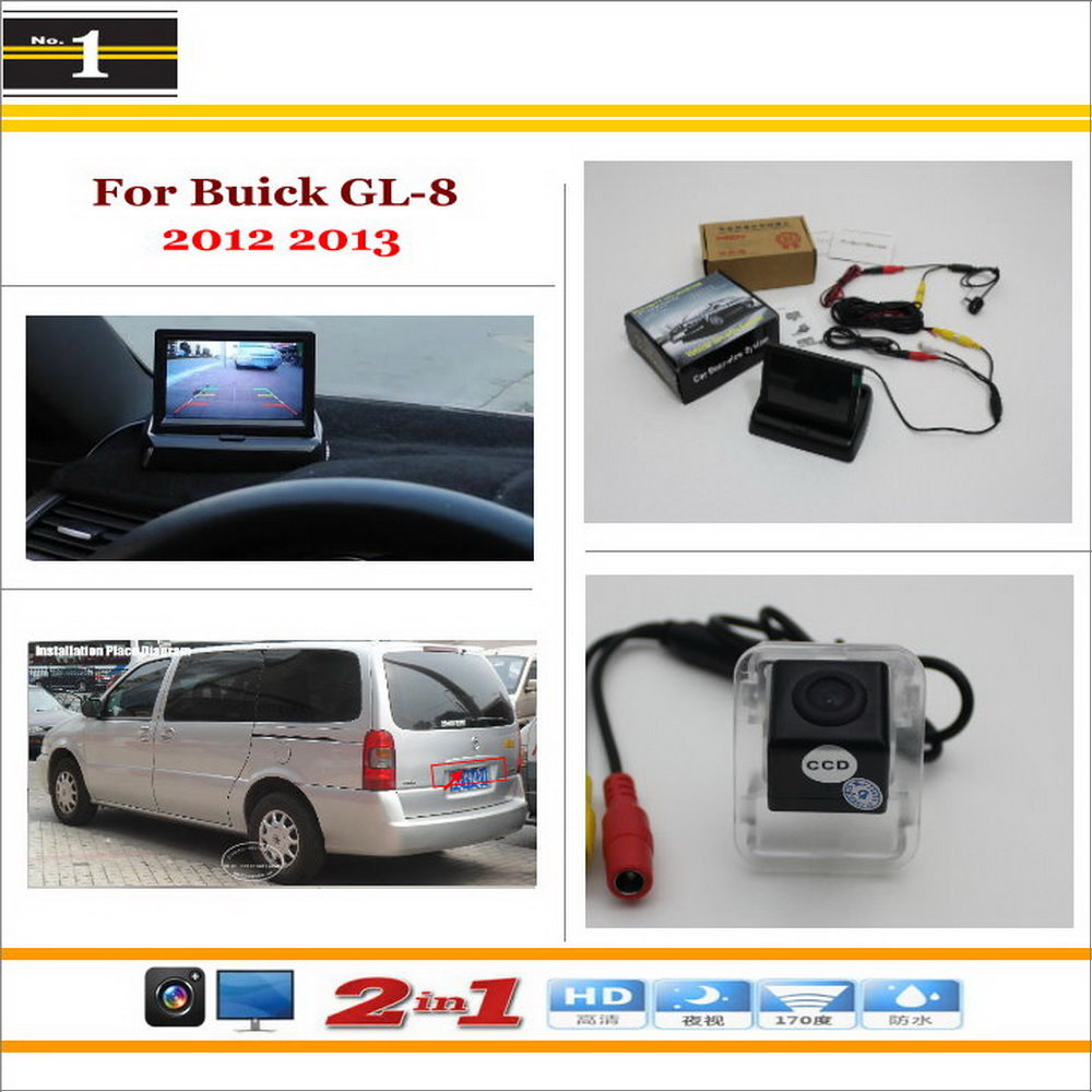 "Car Reverse Backup Rear Camera + 4.3"" TFT LCD Screen Monitor = 2 in 1 Rearview Parking System - For Buick GL-8 2012 2013"