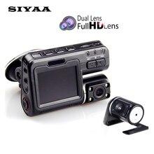 Двойной объектив Автомобильный видеорегистратор камеры I1000 Full HD 1080 P 2.0 «ЖК-регистраторы + камера заднего вида + 8 ИК-свет ночного видения H.264 видео рекордер