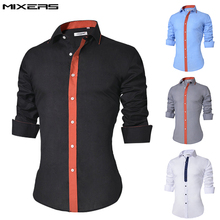 2018 Brand Design Casual Shirt Men Long Sleeve Slim Fit Cotton Dress Shirts Men Black Office Formal Men Shirt  Plus Size 5XL