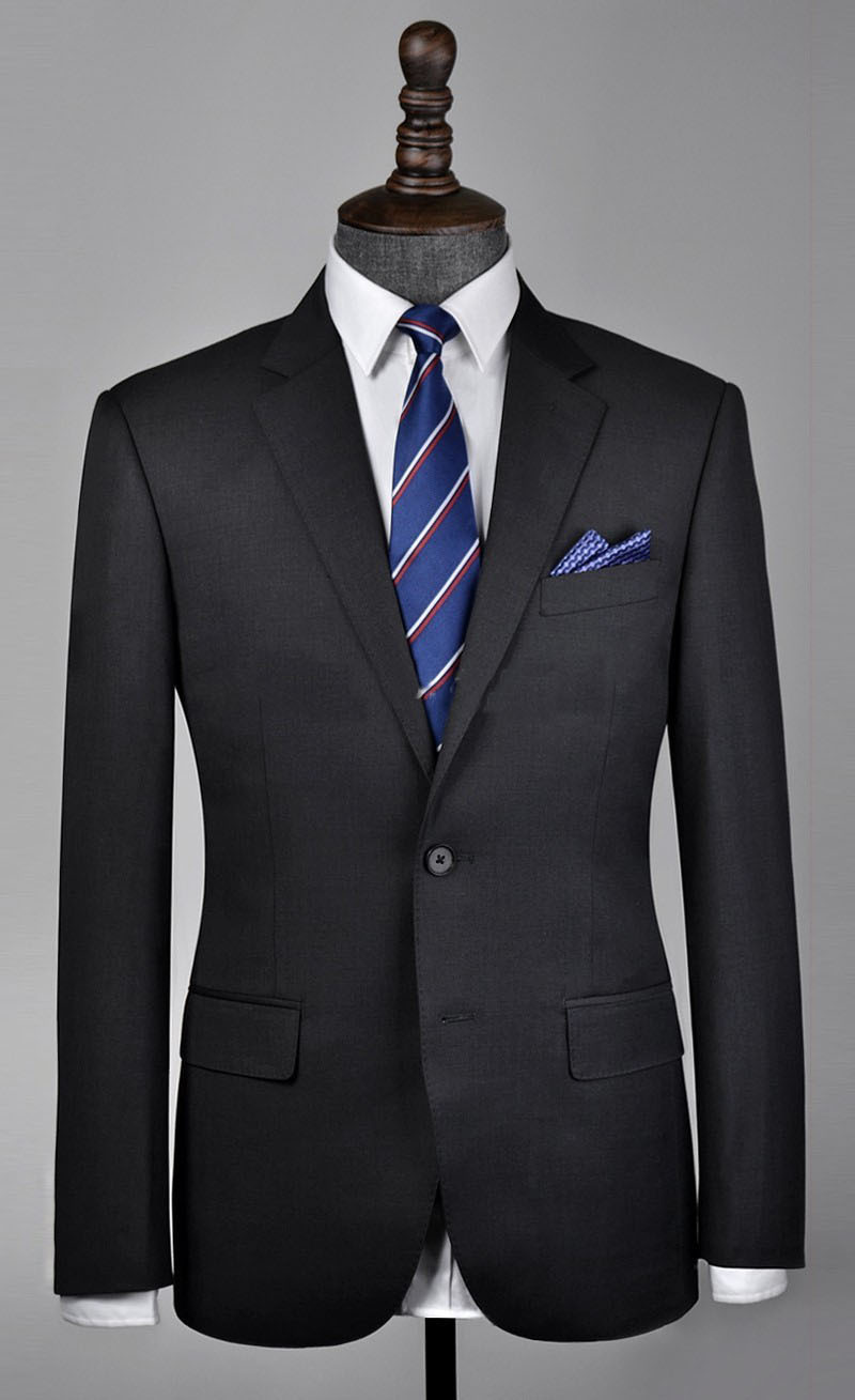 Free shipping 2018 Custom Mens Slim Fit Charcoal Suit/wedding groom Jacket Set with Pant/italian styles suit(Jacket +Pant)