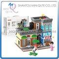 Sistema completo de Mini Qute Lele Hermano Streetscape Banco Teatro cafetería regalo bloque bloques de construcción de figuras de dibujos animados juguetes educativos