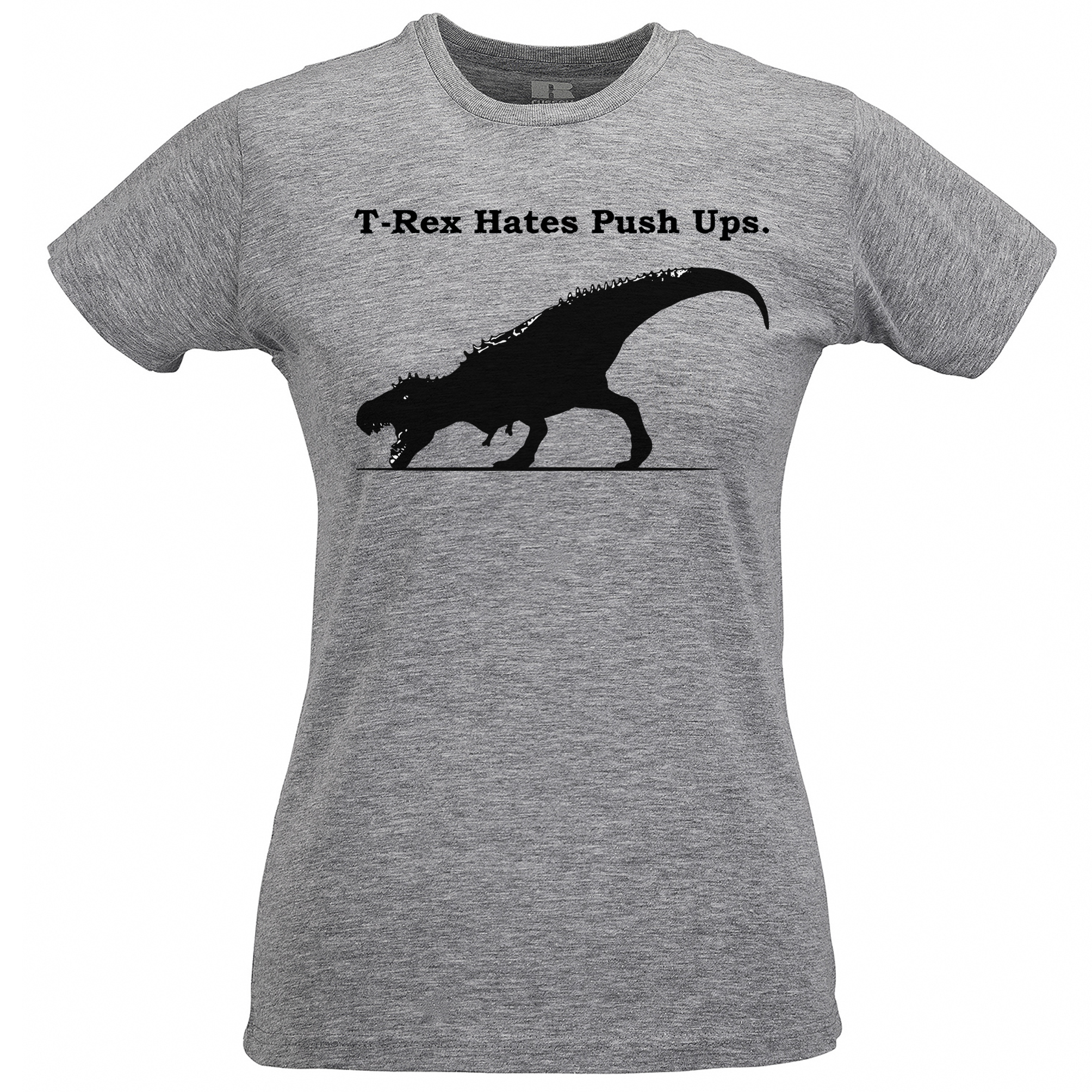 T Rex Hates Push Ups T Shirt Awkward Historical Dinosaur Work Out Jurassic  men tshirts grey color plus L size-in T-Shirts from Men's Clothing &  Accessories ...