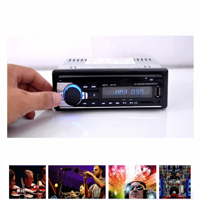 New 12V Car Stereo FM Radio MP3 Audio Player Support Bluetooth with USBSD MMC Port Car speaker for iPhone xiaomi MP3 Playres (2)