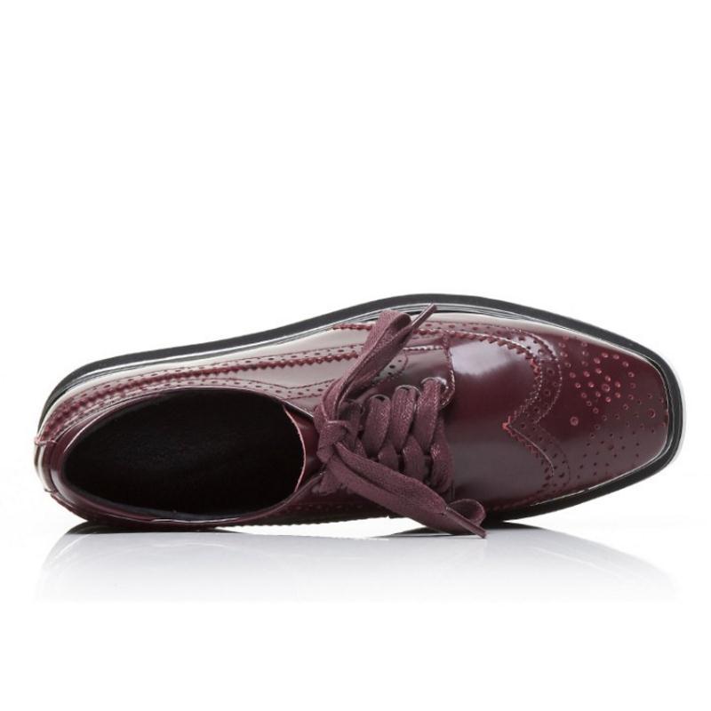 Up En 33 Hop Haute Femme Classique Rouge Chaussures Femmes Cuir Noir Jojonunu Mode Pompes Hig vin 39 Lace Véritable Paltform Taille vafSqxn6