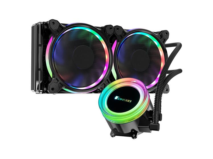 JONSBO TW2-240 TW240 RGB Dual Mode Color Control Integrated Water Cooled CPU Cooler