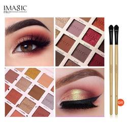 IMAGIC Christmas Nueva inclusión-paleta de sombras de ojos 16 colores, sombra de ojos en polvo de Color brillante mate