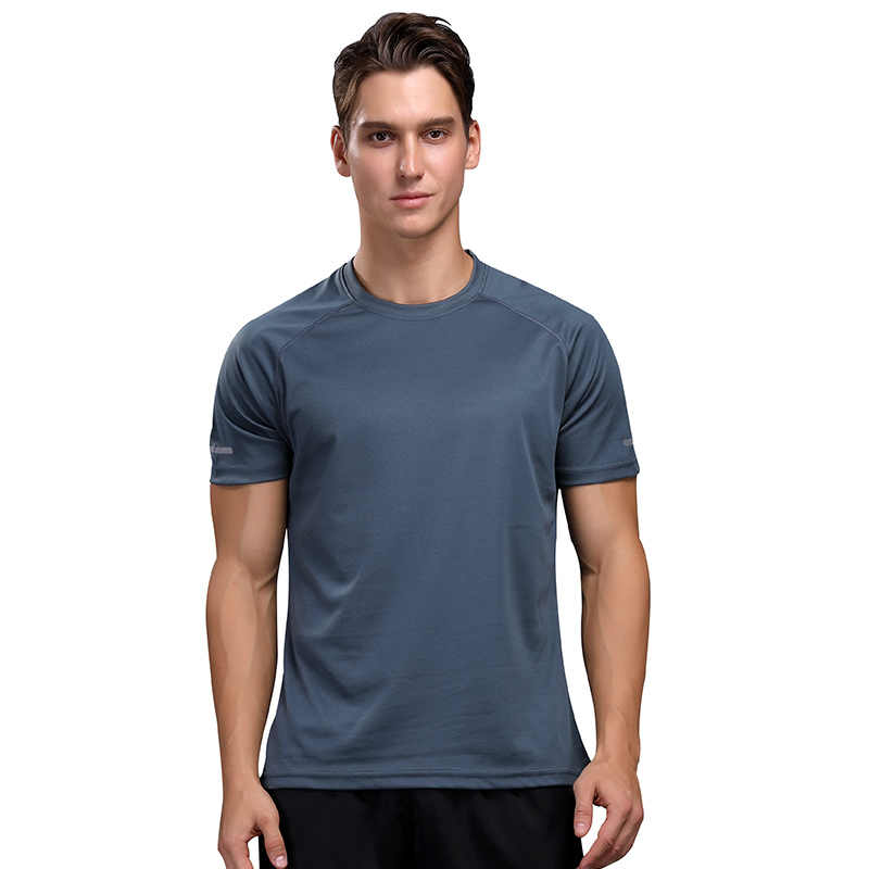 Mannen Training T-shirt Training Sportkleding Korte Mouwen Sneldrogende Outdoor Ademende Running Mannen Bodybuilding Shirt