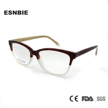 ESNBIE Ladies Square Eyeglasses Frames Women Vintage Retro Optical Glasses Men Acetate Eyewear Spring Hinge