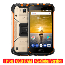 Armadura 2 IP68 Impermeable Teléfono Móvil 5.0 pulgadas FHD Ulefone MTK6757 Octa Core Android 7.0 6 GB RAM 64 GB ROM Cámara de 16MP 4G teléfono móvil