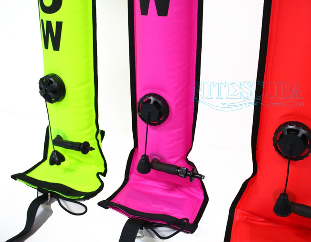 Image 2 - NiteScuba SMB Diving accessories Surface Marker Buoy Safety sausage Signal Float Inflatable Tube reel Underwater Photography-in Sports Camcorder Cases from Consumer Electronics