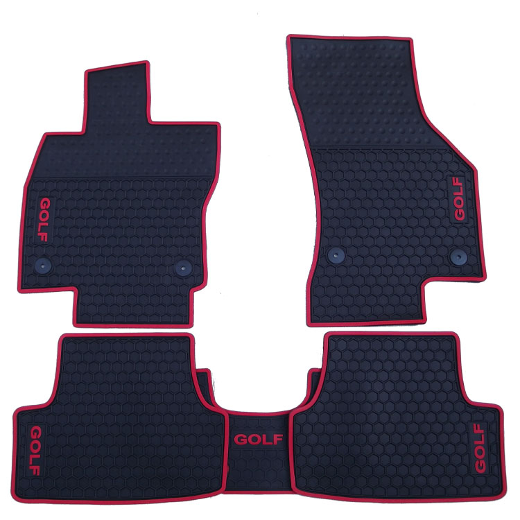 special no odor rubber waterproof rugs latex car floor mats for LHD/RHD right/left hand drive GOLF 5/6/7 with GOLF/GTI