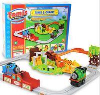 2016 Hot 1 małe elektryczne pociągu kolejowego Thomas pociąg zestaw a kamieniołomu dzieci kreatywne zabawki dla dzieci Boże Narodzenie prezent Dla Dzieci zabawki