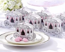 50 PCS Cinderella Carriage Marriage candy Boxes Wedding Favor and Gifts wedding decoration box Candy boite dragees
