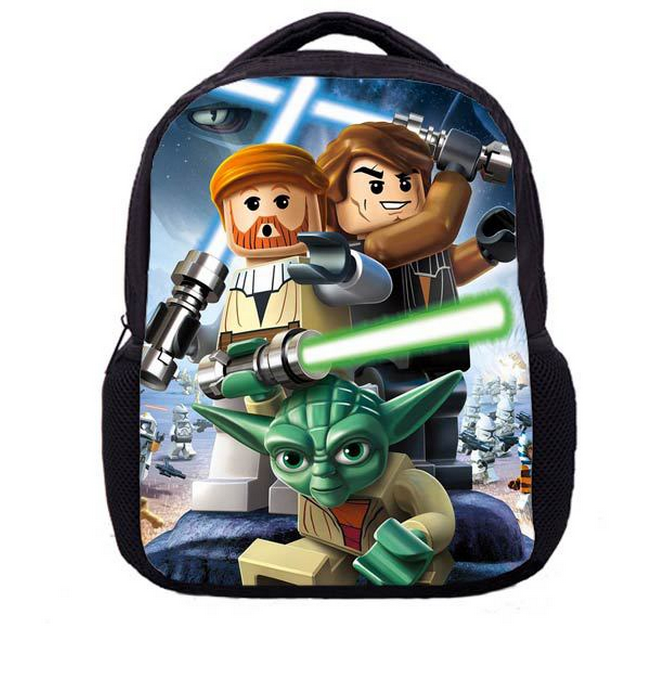 купить 13 Inch Star Wars Master Yoda School Bags for Kindergarten Children kids School Backpack for Girls Children's Backpacks Mochila онлайн