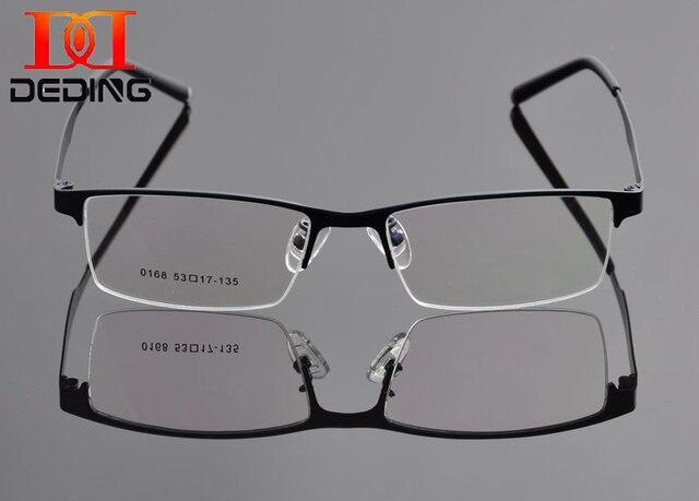 2015  Half-rim Metal Business Spectacle Frame Man Optical Eyeglasses Frame  Myopia Eye Glasses Armacao de Oculos de Grau DD0923