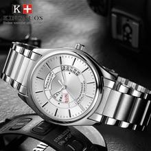 Для Мужчин's бизнес часы Топ Элитный бренд нержавеющая сталь Rolexable Мужской Аналоговый неделя Дата дисплей водонепроница…