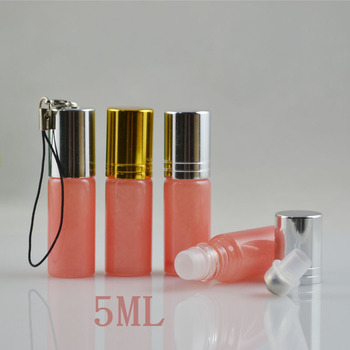 wholesale 50pcs empty 5ml Roll on perfume bottle, 5 ml clear essential oil roll on bottle, small glass roller container 5ml