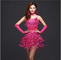Tassels Dance Wear Women Ballroom Dancing Dresses Latin Dance Costume Dance Latin Dresses Tango Dress Samba Skirts