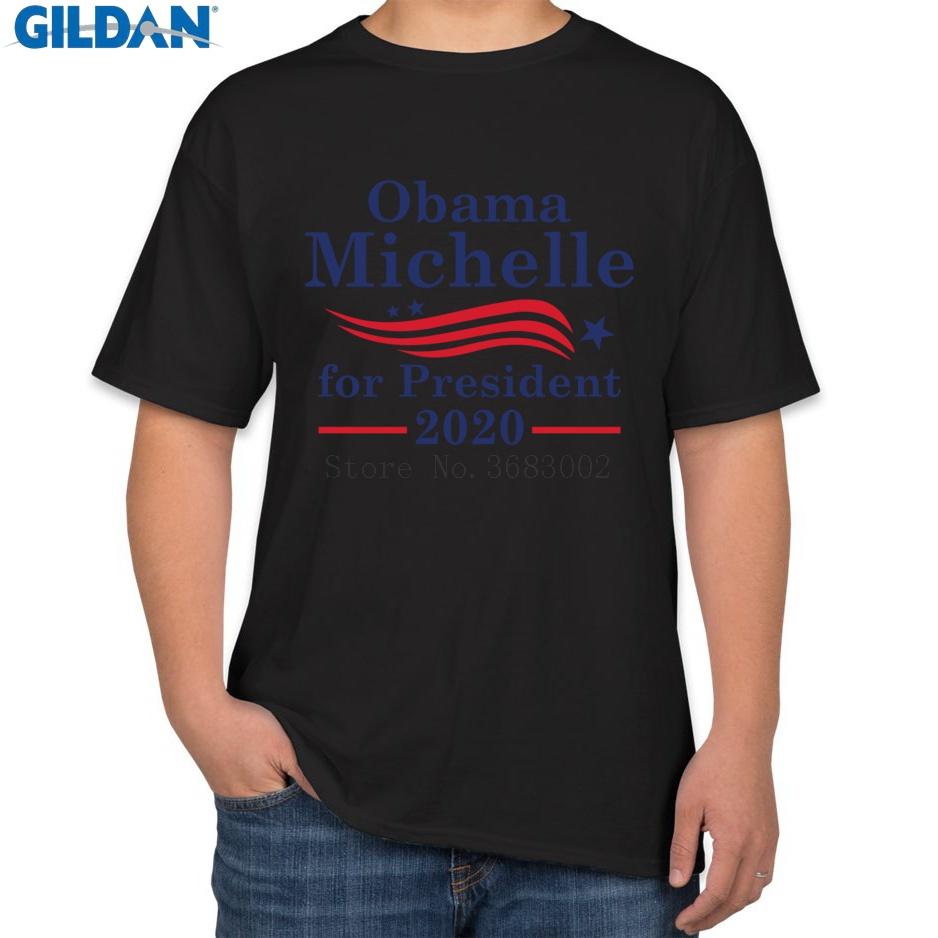 40f05c92 Customized The New T-Shirt Man Short Sleeve Michelle Obama 2020 Tshirt  Summer Style Men T Shirt Pictures Funky Cute