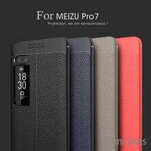 Fundas de teléfono para Meizu Pro 7 Pro7 caso 5,2 pulgadas de lujo suave TPU cuero funda de diseño para Meizu Pro 7 Pro7 Moblie teléfono