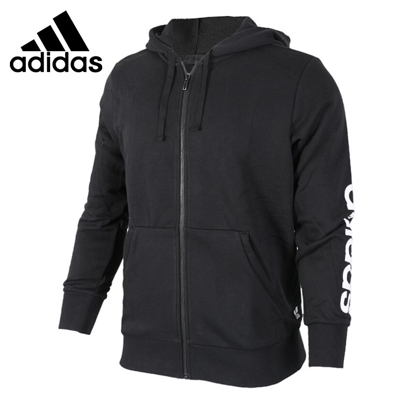 Original New Arrival 2018 Adidas ESS LIN FZ FT Men's jacket Hooded Sportswear original new arrival 2017 adidas performance ess wind jacket men s jacket hooded sportswear