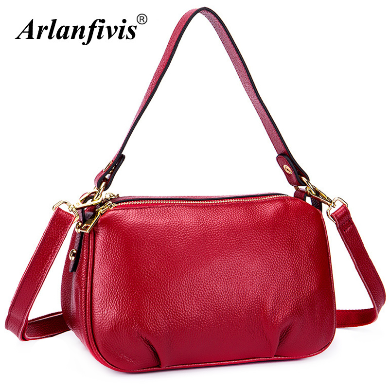 Arlanfivis 100% Genuine Leather Fashion Elegant Women Bags Cowhide Large Capacity Mommy Bag Handbag Leather Shopping Bag Bolsas arlanfivis genuine leather new designer 2018 fashion woman bag cowhide large capacity female handbag wide strap crossbody bags