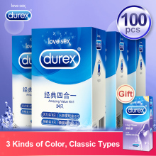 Durex Condoms Amazing Value Natural Latex Lubricated Penis Sleeve for Sex Intimate Condom Kondom Erotic Sex Goods for Men Delay