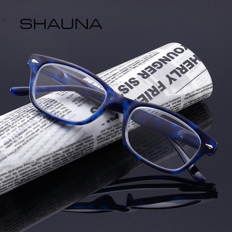 SHAUNA Lens Eyeglasses Hyperopia-Reader Bifocals Transparent Leopard Far-Optical Retro